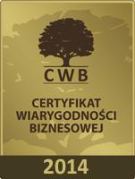 Złoty Certyfikat Wiarygodności dla AIF Kancelaria Windykacja